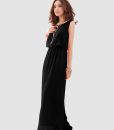 Bohemia Pleated Wave Strap Chiffon Maxi Dress