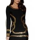 Personalized Beading Long Sleeved Bandage Dress