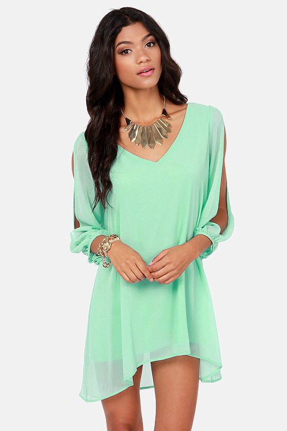 b12690ec2e90 Stylish V-Neck Long Sleeve Loose-Fitting White Chiffon Dress – GonChas
