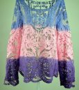 Openwork Embroidery Pattern Loose Fit Long Sleeve Lace Blouse
