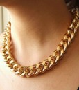 Simple Chic Style Thick Women's Chain Necklace
