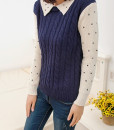 Polka Dot Patchwork Sweater