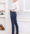 Double-Breasted Wholesale High Waist Jeans Pencil Pants For Women