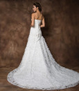 Charming Strapless Rhinestoned Appliques Bowknot Women's Lace Up Mermaid Chapel Wedding Dress