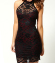 Sexy Style Lace Splicing Packet Buttock Slimming Dress
