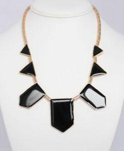 Rhinestone Embellished Geometric Figure Shape Pendant Necklace For Women