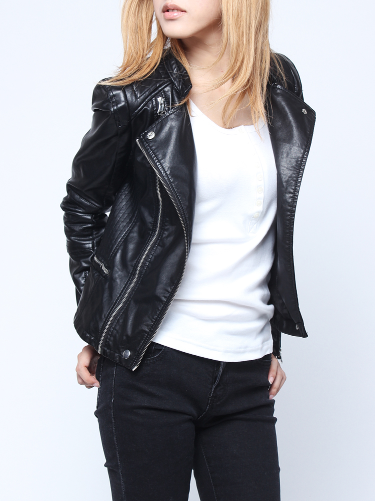 Women's Leather Jackets. Clothing. Women. Womens Coats & Jackets. Women's Leather Jackets. Showing 48 of results that match your query. Search Product Result. Product - MBJ WJC Womens Faux Leather Jacket with Hoodie M BLACK. Product Image. Price $ 95 - .