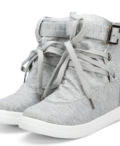 Fashion Lace Up Belt Buckle Sneakers