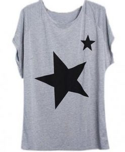 Five-pointed Star Pattern Short Sleeve T-shirt