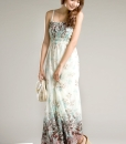 Straps Long Chiffon Dress