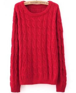 Knitted Elbow Patch Pullover Sweater