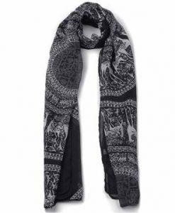 Women Cotton Print Long Scarves Shawl Large Wrap Scarf
