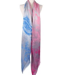Elegant Ultra Long Mix Color Gradient Cotton Blend Scarf Shawls