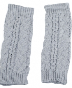 Fingerless Half Twist Knitted Gloves