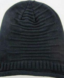 Stripe Wool Cap Knit Hat