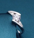 Silver Austria Crystal Finger Ring