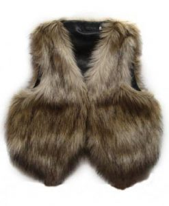 Vintage Sleeveless Trendy Fur Waistcoat Vest Jacket