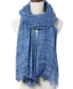 Women Fashion Long Thin Shawl With Tassel Linen Warm Scarf