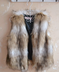 Casual Sleeveless Soft Faux Fur Vest Sweater