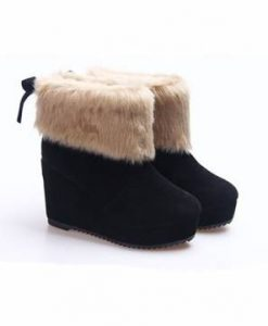 Platform Wedge Heel Butterfly Knot Ankle Snow Boots