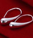 Silver Plated Earrings Water Drop Pendant Ear Drop Jewelery