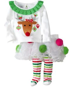 Christmas Baby Child Toddler Girls Tulle Tutu Pants Dress Outfit