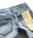 Star Style Washed White Blue Straight Leg Denim Jeans