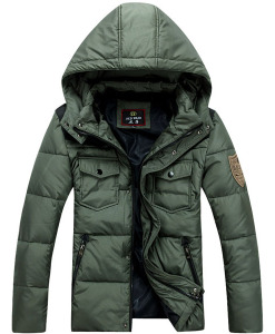 Thicken Hooded Casual Winter Warm Cotton Jacket