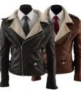 Jacket Simple Slim Berber Fleece Fur Moto Coat