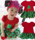 Children Toddler Girl Christmas Tress Tutu Dress Birthday T-Shirt