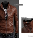 Suit Fashion PU Leather Jacket Plus Size
