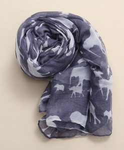 Fashion Elephant Print Long Soft Scarf Shawl Wrap