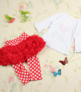Girls I Love Santa T-Shirt Dress Christmas Clothing Sets Outfits