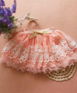 Children Girls Tutu Mini Skirt Ballet Tulle Lace Dress