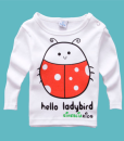 Baby Children Cartoon Pattern T-shirt Long Sleeve Casual Tops