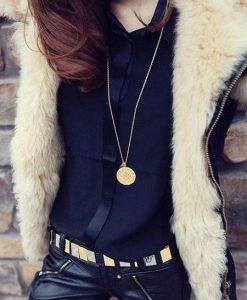 Black Faux Fur Zipper Cool Stylish Slim Fit Short Coat