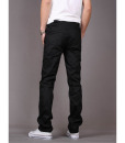 Cotton Slim Fit Chinos Elastic Waist Casual Pants