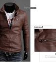 Suit Fashion PU Leather Jacket Plus Size