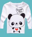 Baby Children Cartoon Pattern T-shirt Long Sleeve Casual Tops