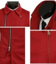 Personalized Knit Stitching Sided Oblique Zipper Jacket Coat