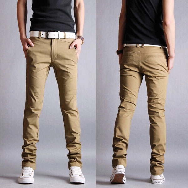 Casual Slim Fit Pencil Cotton Chino Pants Gonchas