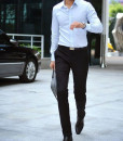 Slim Fit Business Dress Pants Casual Suit Pants
