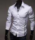Hot Stylish Men Casual Slim Fitted Dress Shirt