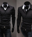 Hot Stylish Men Casual Slim Fitted Dress Shirt