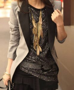 Female Retro Lapel Outerwear Jacket