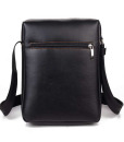 Black Brown Leather Shoulder Diagonal Package Bag