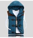 Cotton Autumn Winter Jacket Casual Hooded Waistcoat