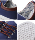 Low-Top Board Casual Canvas Shoes Lace Up Flats