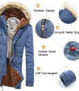 Winter Warm Casual Hooded Coat Thick Padded Cotton Outwear Jacket