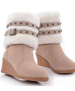 Wedge High Heel Multi wear Cotton Padded Snow Boots